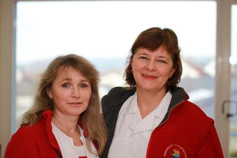 Birgit Fuchs (Stellvertreterin) und Andrea Raible-Kardinal (Pflegedienstleiterin)