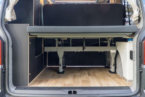 Reichlich Platz im Kofferraum mit einer Ladehöhe von 52 cm!