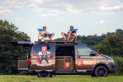 Discarvery 2017er Open Flair Festival Camper mit Dachterrasse