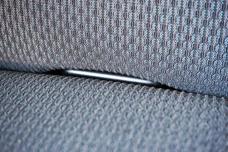 ISOfix Halterungen zur einfachen Befestigung von max. zwei Kindersitzen