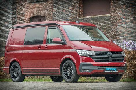 VW T6.1 Transporter als Basisfahrzeug für unsere Discarvery Camper