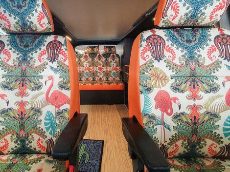 Individuelle Sitzbezüge für die Discarvery Camper von DriveDressy