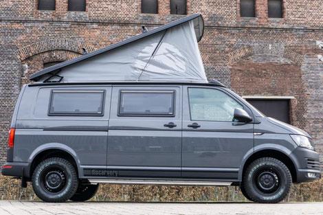 Schlafdach SCA 192 auf VW T6 mit langem Radstand