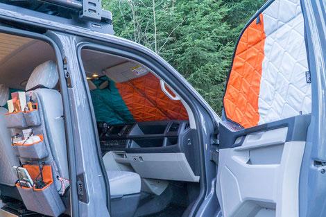 Verdunkelung und Sichtschutz für das Fahrerhaus
