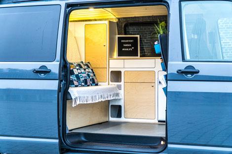 Campingausbau VanBUS für gebrauchte VW T5 und T6 Transporter
