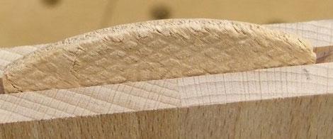 Lamello Scheiben für geteilte Fensterbänke aus Holz Montage