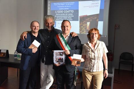 Da sinistra: Giuseppe Lorentini, Livio Sirovich, Massimo Tiberini, Tullia Catalan