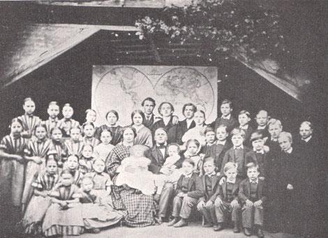Die Waisenfamilie im Jahre 1863