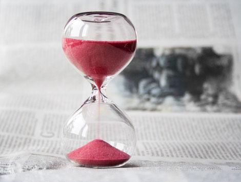 Sanduhr, Zeit, Zeit vergeht schnell, Zeit vergeht langsam