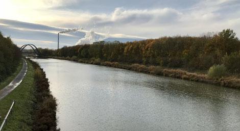 Der Datteln-Hamm-Kanal in Höhe von Haus Rünthe. (Foto: Manuel Izdebski)