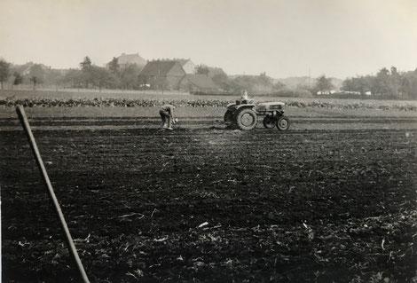Auf den Feldern befindet sich heute die Dille. (Bildnachweis: K.-F. Hoffmann)