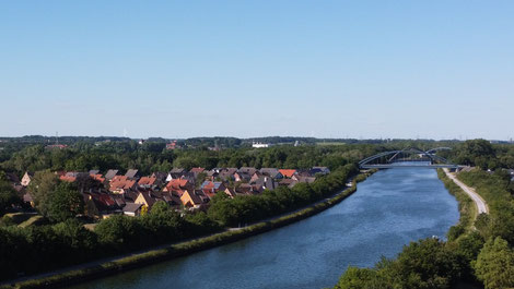 Die Böggefeld-Siedlung aus der Vogelperspektive. (Foto: Manuel Izdebski)