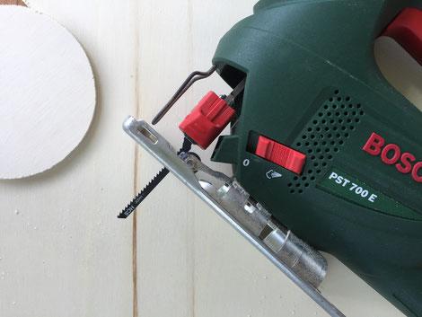 Dose Upcyling DIY Holzdeckel mit Stichsäge von Bosch