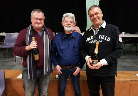 de gauche à droite, Thierry Chincholle, Philippe Legrand et Bernard Caro