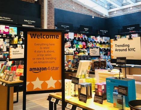 d73eae5e57be Amazon applique lui les recettes de son site en ligne au magasin. En plus  des Amazon Go
