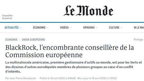 BlackRock Le Monde
