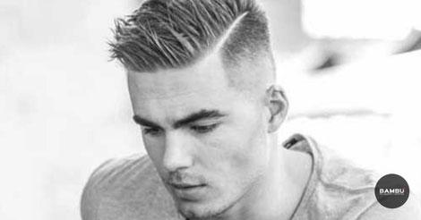 Peinado raya de lado hombre