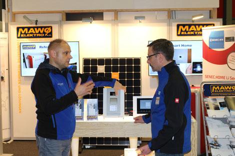Interview von Herr Zamecki Busch-Jaeger und Herr Dolny MAWO Elektro e.K. auf der  Oberhavel Handwerkermesse 2017 in Oranienburg