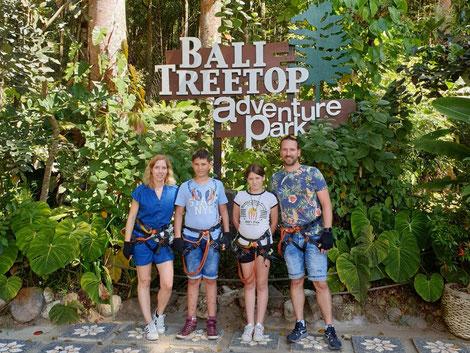 Excursie naar Bali Tree Tops adventure park op Bali