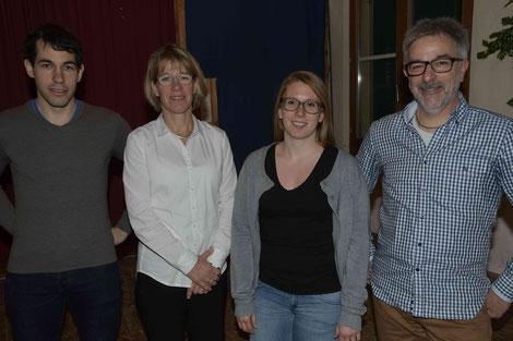 der neue Vorstand: Florian Gärtner, Susanne Evers, Larissa Sutter und Präsident Walter Gärtner