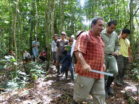 El naturalista Fernando Carceller. Doctor en Biología y Geólogo. Encabezó el área de artrópodos y el área de bioturismo en la Expedición Naturalista al Yasuní.