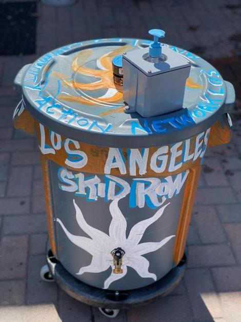 Un exemple du dispositif installé par LACAN dans le quartier de Skid Row