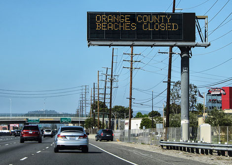 Closure of California's beaches (source Flick)