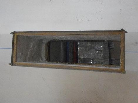 détail d'un arrière de planche à voile, avec boitier découpé avec épaulement - windfoil aeromod