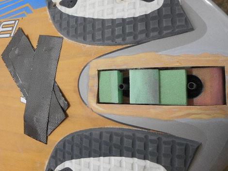 détail du montage à blanc - windfoil aeromod