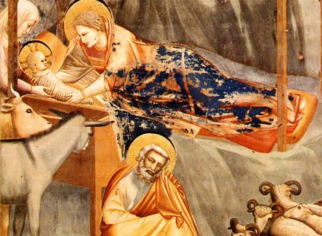 Le Christ dans son berceau