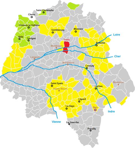 Possessions de Foulque Nerra en 987
