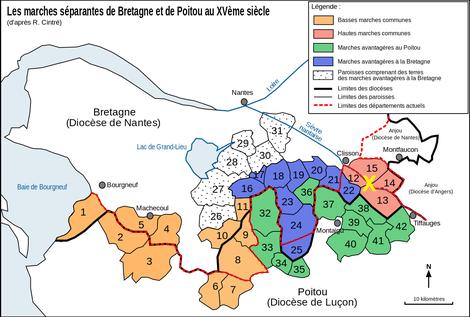 Marches séparantes de Bretagne et Poitou