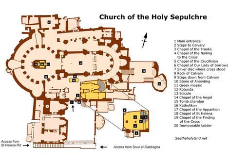 Plan du Saint Sépulcre