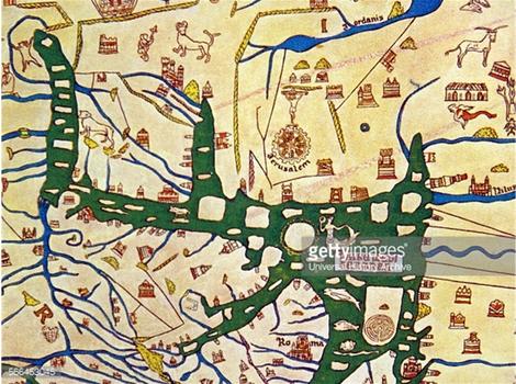 Jérusalem au centre de la carte d'Hereford