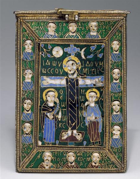 Staurothèque byzantine du début du IXe siècle.