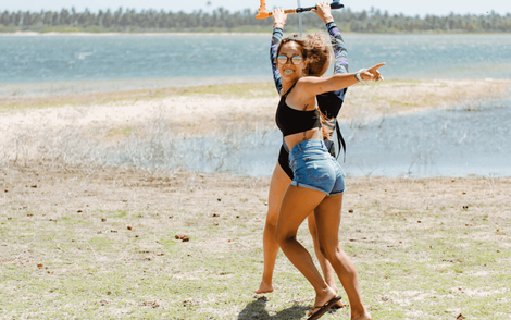 Female Empowerment Retreat and Kite Camp with kiteboarding, yoga, vegan food and daily workouts.