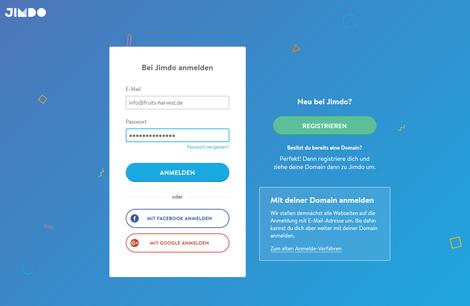Neu in der Jimdo-Welt: das JIMDO-Konto als zentraler Zugang für alle Webseiten