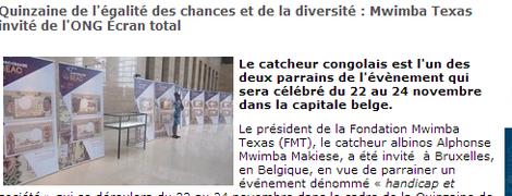 Les depeches Brasaville le 21/11/2012