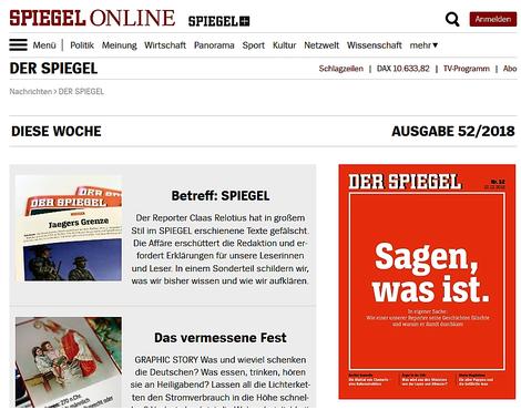 Screenshot der Spiegel-online-Webseite mit den Recherchen über den Betrug im eigenen Haus