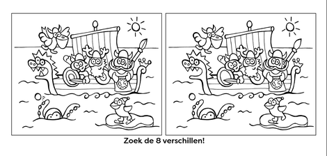 Dirk Van Bun Communicatie & Vormgeving - illustraties - tekeningen - cartoons - corona - 8 verschillen vikingen