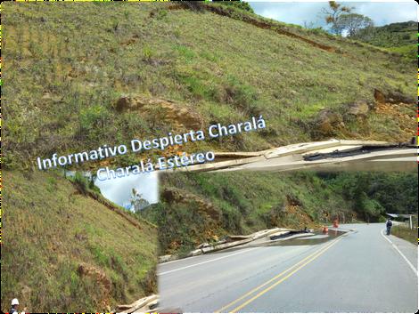 Foto bomberos Charalá Km 26+300 San Gil - Charalá