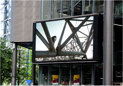 LED Screen in Berlin, Potsdamer Platz