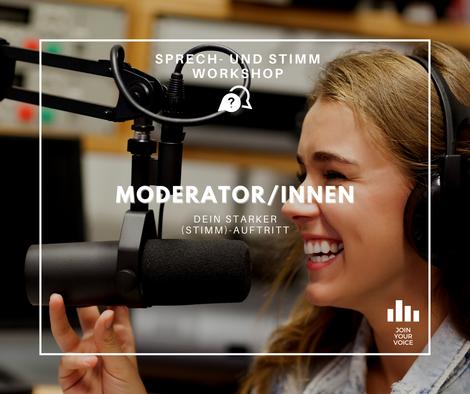 Dein JOIN YOUR VOICE – Stimm- und Sprechworkshop als ModeratorIn