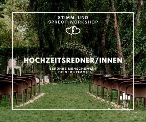 Dein JOIN YOUR VOICE – Stimm- und Sprechworkshop als HochzeitsrednerIn