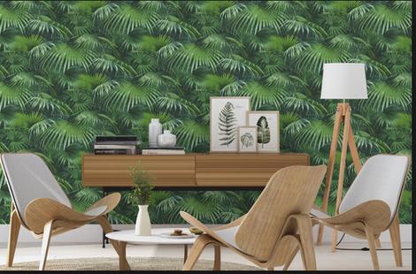 papier peint 4 murs, mobiliers design, année 50 bois blond, Isabelle Mourcely décoratrice UFDI Tours 37000 et Chinon 37500