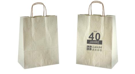 Papiertasche aus Graspapier, die Alternative zur Plastiktüte