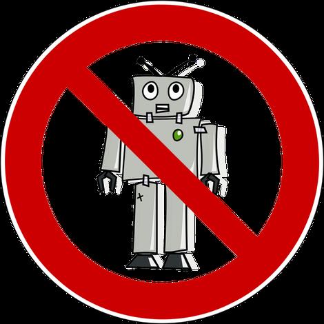 durchgestrichener Roboter