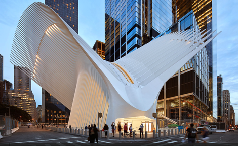 Santiago Calatrava's Transport Hub New York City
