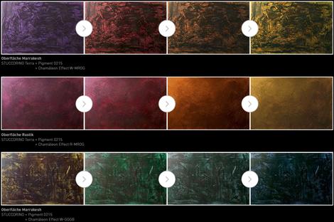 Wandgestaltung Chamäleon Effect-Flipflop Wand-Camaeleon Wandgestaltung