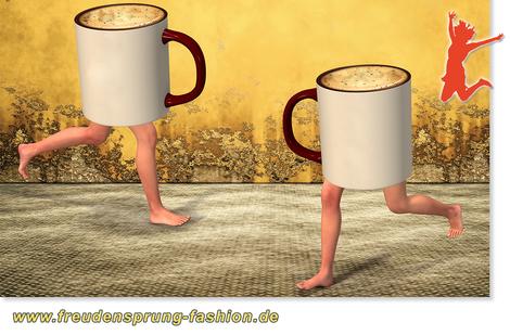 RECUP, das deutschlandweite Pfandsystem für Coffee-to-go Mehrwegbecher ist unser Freudensprung der Woche!